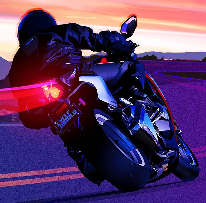 Motorcycle cornering